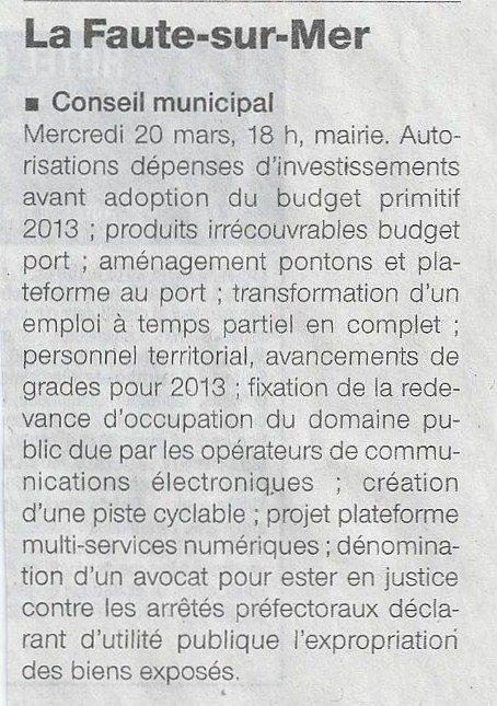 2013 03 17 conseil municipal