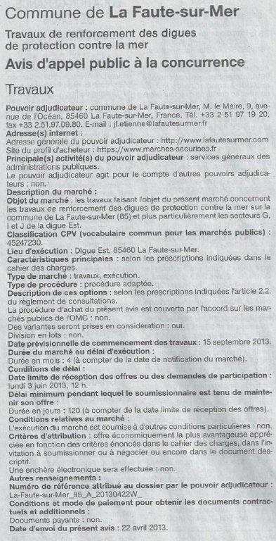 2013 04 25 appel d'offres digue